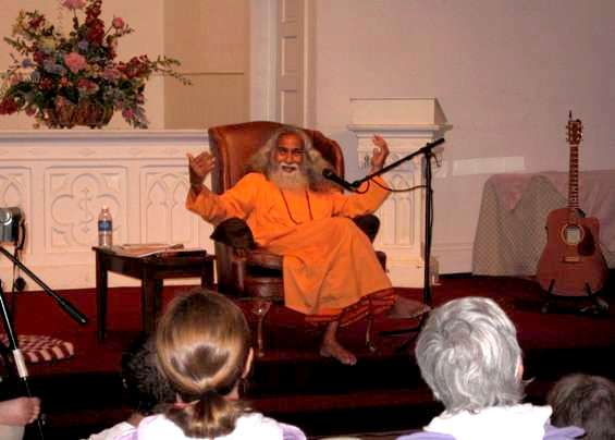 Swami Shantanand leads a workshop at the Old Church on the Green in Hudson. Click here to see Shantji on YouTube.